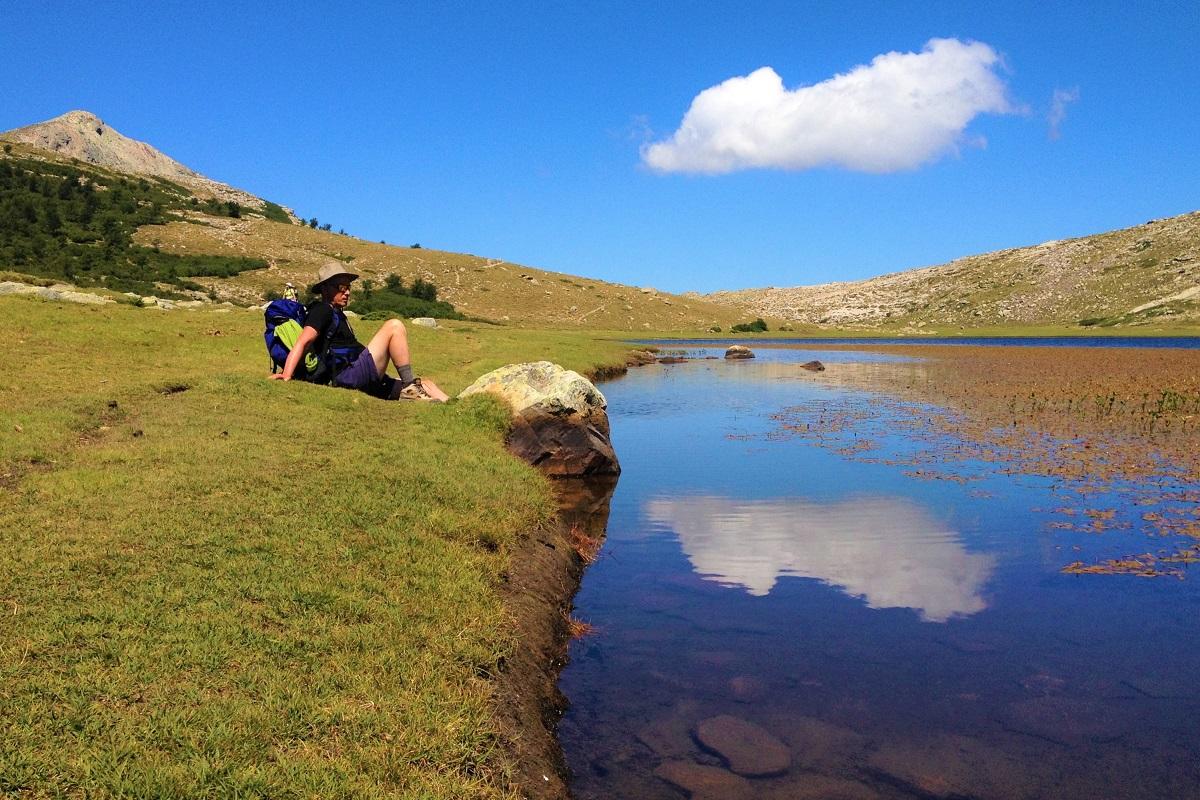 Pause au lac de Nino